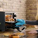 Kép 8/8 - Mini Elektromos Sütő Cecotec Bake'n Toast 1500W Szín  Fekete