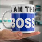 Kép 1/2 - I am the Boss XL-es Csésze