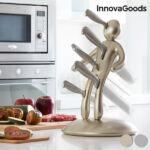 Kép 1/6 - InnovaGoods Vudú Premium Késkészlet Késtartóval (6 Darabos) Szín  Aranyszínű