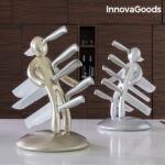 Kép 4/6 - InnovaGoods Vudú Premium Késkészlet Késtartóval (6 Darabos) Szín  Aranyszínű
