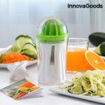 Kép 1/8 - InnovaGoods 4 az 1-ben Zöldségvágó és Gyümölcsprés Receptkönyvvel