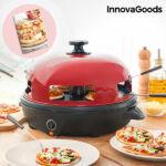 Kép 1/8 - InnovaGoods Presto! Minipizza Sütő Receptkönyvvel 700W Piros Fekete