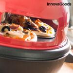 Kép 8/8 - InnovaGoods Presto! Minipizza Sütő Receptkönyvvel 700W Piros Fekete