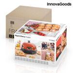 Kép 4/8 - InnovaGoods Presto! Minipizza Sütő Receptkönyvvel 700W Piros Fekete