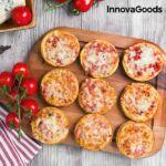Kép 3/8 - InnovaGoods Presto! Minipizza Sütő Receptkönyvvel 700W Piros Fekete