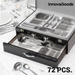 Kép 1/8 - InnovaGoods Cook D'Lux Rozsdamentes Acél Evőeszköz Készlet (72 darabos)