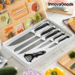 Kép 1/7 - InnovaGoods Swiss·Q Stone Kő Kés és Hámozókészlet (6 darabos)