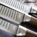 Kép 4/6 - InnovaGoods Wood & Stone Swiss·Q Namiutsu Késkészlet (4 Részes)