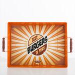 Kép 3/7 - Vintage Food Fémtálca Minta  Best Burgers