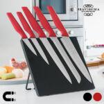 Kép 1/3 - Bravissima Kitchen Kések Mágneses Tartóval (6 darab) Szín  Piros