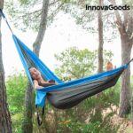 Kép 3/8 - InnovaGoods Swing & Rest Kemping Dupla Függőágy