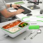 Kép 7/9 - InnovaGoods  Pro Elektromos Ételmelegítő 50W Fehér Zöld