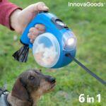 Kép 3/10 - InnovaGoods Home Pet 6 az 1-ben behúzható kutya póráz, kék