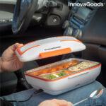 Kép 2/9 - InnovaGoods Szivargyújtós 2 az 1-ben Elektromos ételesdoboz, Pro Bentau, fehér, narancssárga
