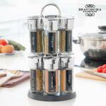 Kép 2/5 - Bravissima Kitchen Fűszertartó 12 Fűszerrel