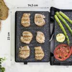 Kép 2/4 - Elektromos Barbecue Sütőt Cecotec Rock'nGrill 750 Full Open 750W Fekete Szürke