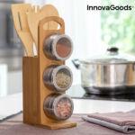 Kép 1/8 - Mágneses fűszertartó készlet bambusz edényekkel Bamsa InnovaGoods 7 Darabok