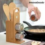 Kép 3/8 - Mágneses fűszertartó készlet bambusz edényekkel Bamsa InnovaGoods 7 Darabok