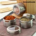 Kép 4/8 - Mágneses fűszertartó készlet bambusz edényekkel Bamsa InnovaGoods 7 Darabok