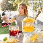 Kép 2/8 - Dupla ital adagoló jégrekeszekkel és snack tálcával TwinTap InnovaGoods