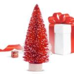 Kép 1/2 - Mini Karácsonyfa (12,5 x 5 cm) Szín Piros