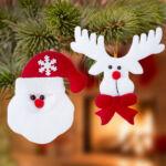 Kép 1/4 - Karácsonyi dísz szett (2 db) 145105 Szín Fehér