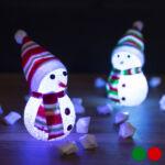 Kép 1/4 - LED Hóember Karácsonyi Dekoráció 145896 Szín Zöld