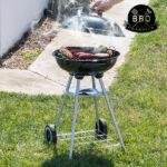 Kép 1/8 - BBQ Classics Faszenes Barbecue Sütő Tetővel és Kerekekkel