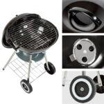 Kép 5/8 - BBQ Classics Faszenes Barbecue Sütő Tetővel és Kerekekkel