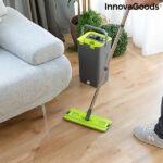 Kép 1/8 - InnovaGoods Swiftmop, kettős kosár funkcióval, Zöld-Szürke