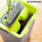Kép 3/8 - InnovaGoods Swiftmop, kettős kosár funkcióval, Zöld-Szürke