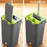 Kép 5/8 - InnovaGoods Swiftmop, kettős kosár funkcióval, Zöld-Szürke