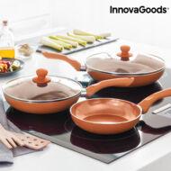 InnovaGoods Copper-Effect Serpenyő Készlet (5 Részes)