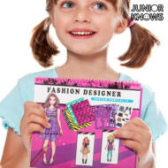 Divat Jegyzetfüzet Gyerekeknek Minta Hair Stylist