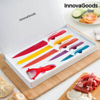 InnovaGoods Kerámia Kés és Hámozó Készlet (6 darab)