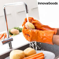InnovaGoods Gyümölcs  & Zöldség Tisztító és Hámozó Kesztyű