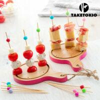 TakeTokio  Mini Tablas Bambusztálca Szett Tapas-hoz (16 Részes)