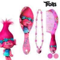 Trollok Szépítkező Készlet Lányoknak Minta Kefe+Lila Fésű