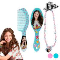Soy Luna Szépítkező Készlet Lányoknak Minta Kefe+Türkiz Nyaklánc