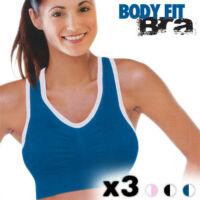 Body Fit Bra Sportmelltartó (3 darabos) Méret: S