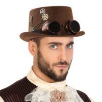 Poliészter kalap Steampunk Barna