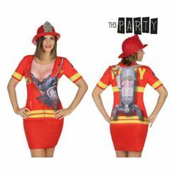Póló Felnőtteknek Th3 Party 6667 Tűzoltó nő