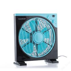 Padló Ventilátor Box InnovaGoods Ø 30 cm 50W Fekete Kék