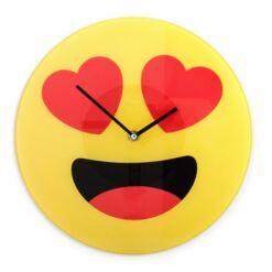 Szívecskés Emoji falióra