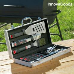 InnovaGoods  Professzionális Eszközkészlet Barbecue-hoz (11 darabos)
