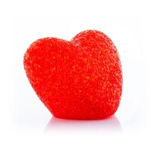 Többszínű LED-es Csillogó Piros szív