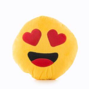 Szívecskés Plüss Emoji párna