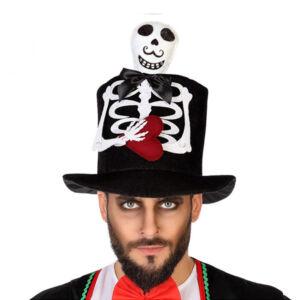 Kalap Halloween Csontváz Fekete 116839