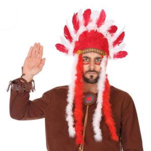 Indiai fejdísz Piros