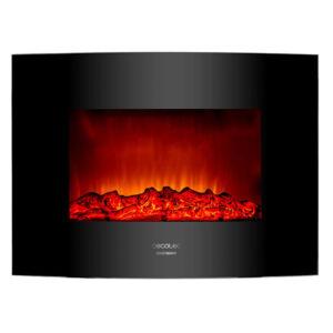 Fali dekoratív kandalló Cecotec Warm 2200 Curved Flames 2000W, Fekete